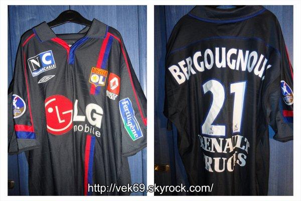 Maillot OL 2004-2005 extérieur BERGOUGNOUX