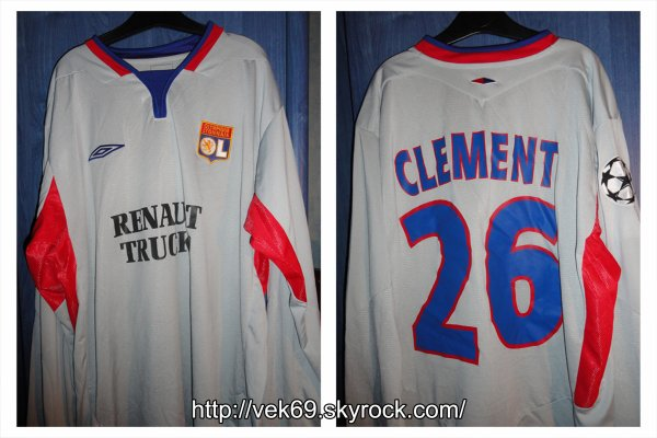 Maillot OL 2004-2005 europe CLEMENT