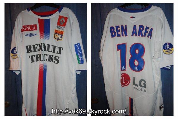 Maillot OL 2005-2006 domicile BEN ARFA