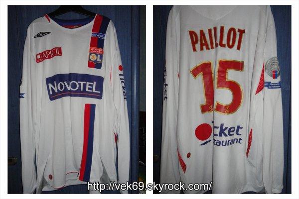Maillot OL 2007-2008 domicile PAILLOT