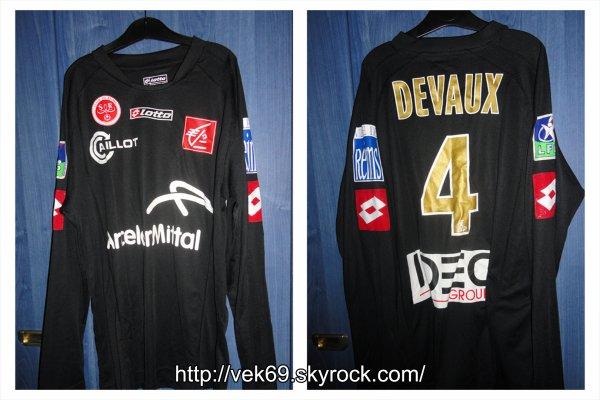 Maillot REIMS 2007-2008 extérieur DEVAUX