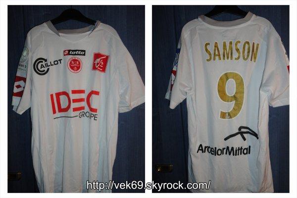 Maillot REIMS 2008-2009 domicile SAMSON