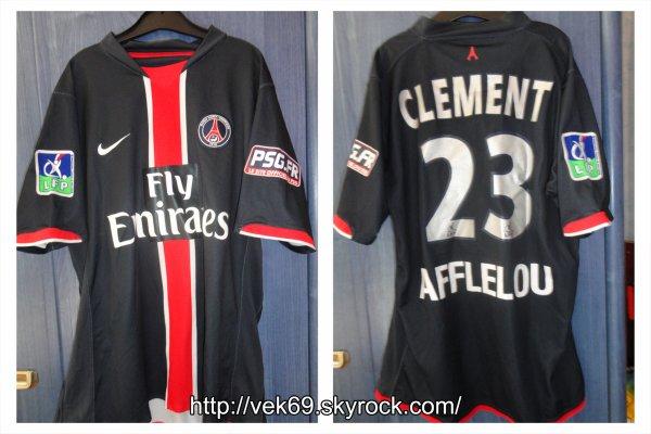 Maillot PSG 2007-2008 domicile CLEMENT