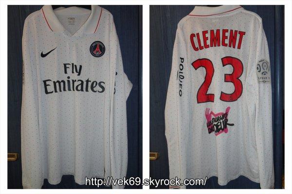 Maillot PSG 2008-2009 extérieur CLEMENT