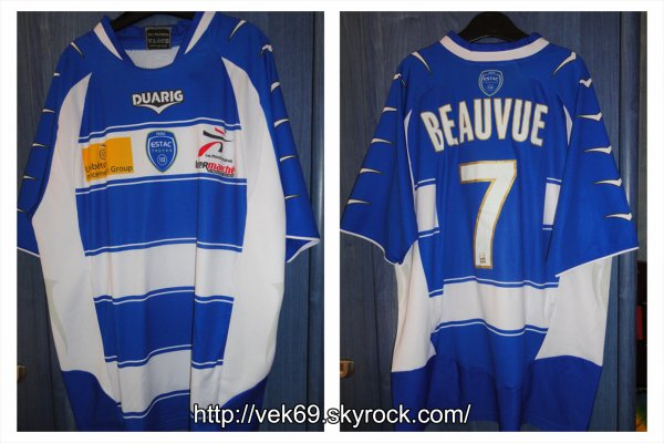 Maillot TROYES 2009-2010 domicile BEAUVUE (Amical)