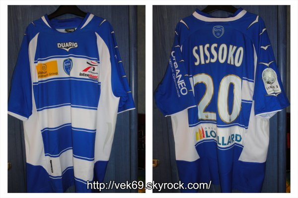 Maillot TROYES 2010-2011 domicile SISSOKO