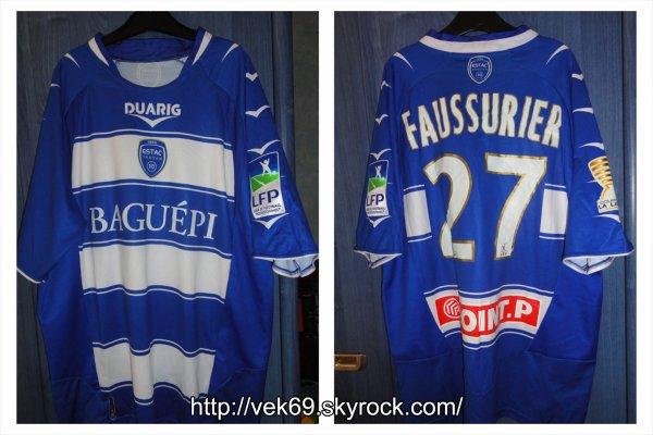 Maillot TROYES 2009-2010 coupe de la ligue FAUSSURIER
