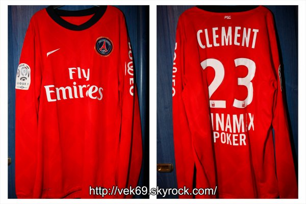 Maillot PSG 2010-2011 domicile CLEMENT
