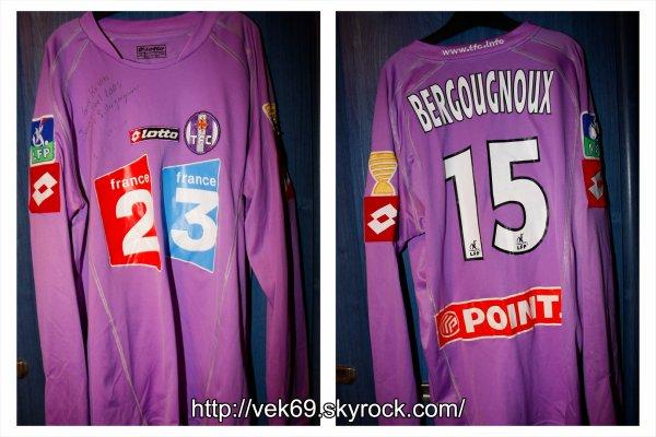 Maillot TOULOUSE 2005-2006 coupe de la ligue BERGOUGNOUX