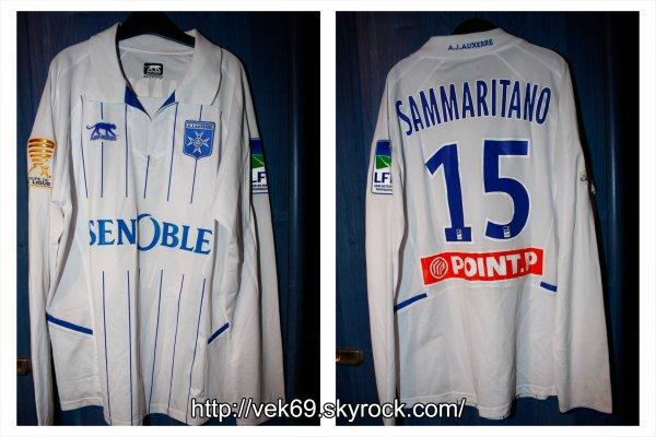 Maillot AUXERRE 2010-2011 coupe de la ligue SAMMARITANO