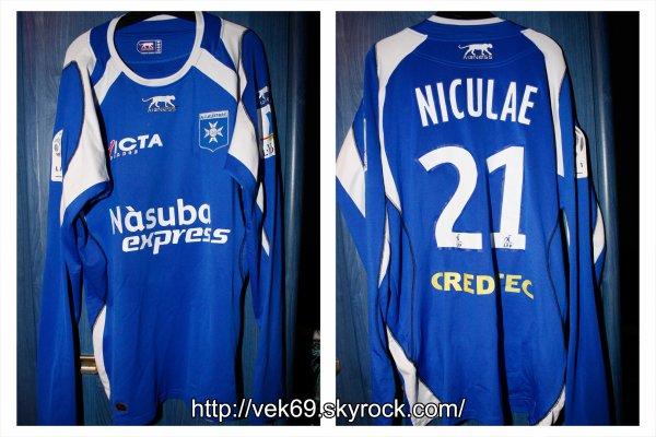 Maillot AUXERRE 2008-2009 extérieur NICULAE