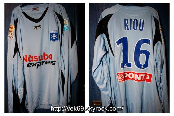 Maillot AUXERRE 2008-2009 coupe de la ligue RIOU