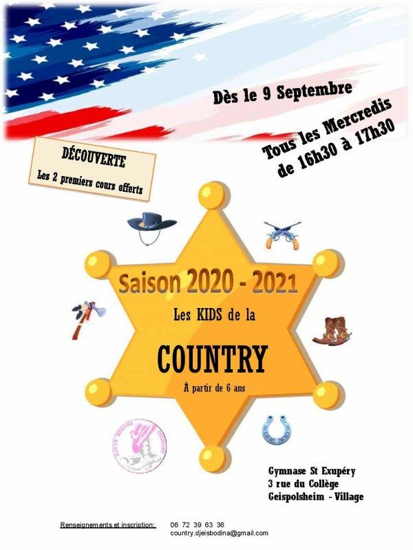 REPRISE COURS SAISON 2020/2021 ! Vous avez envie de vivre la country dans une ambiance conviviale? Rester connecté!  Vous êtes les bienvenus! Que vous soyez seul 👤ou accompagnés👥, que vous soyez débutant ou pas, nous serions ravis de vous y accueillir! Les enfants sont les bienvenus tous les mercredis! 👫 N'hésitez pas à nous contacter pour de plus amples informations!  Reprise des cours : jeudi 3 septembre pour les adultes (sauf avis contraire du gouvernement) et mercredi 9 pour les enfants!😍 Alors à très bientôt!😉