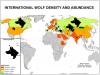 Répartition du loup dans le monde
