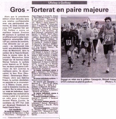 """ Relais Cross / Cyclo-cross de l 'A .C Golbey "", le 12.12.2010"