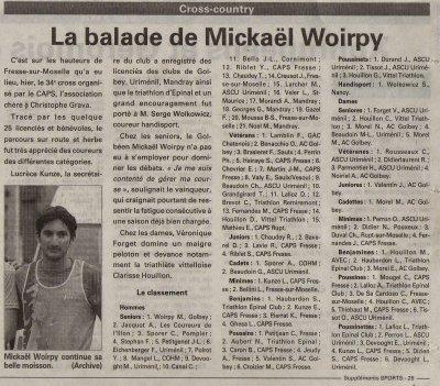 """"""" Cross de Fresse / Moselles """" le 23.01.2011,"""
