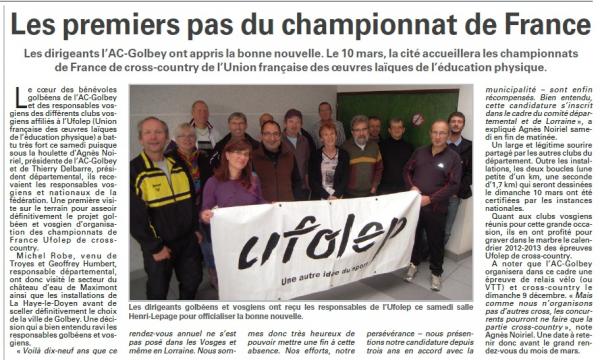 """"""" Championnat National de Cross 2013 à Golbey """""""