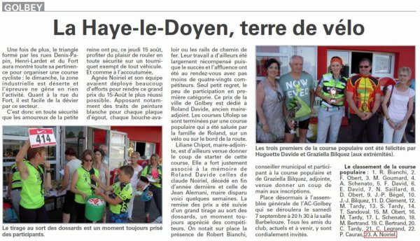 La Haye-le-Doyen, terre de vélo