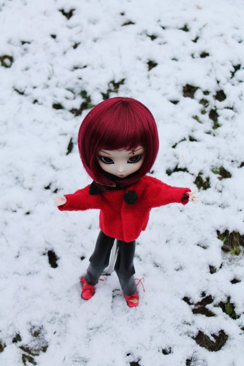 Un peu de neige...mais bien au chaud!
