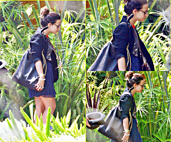 *   Demi arrivant  au studio d'enregistrement à Los Angeles le 21/07.        *