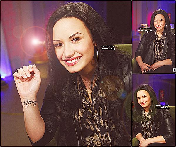 *  Demi a été à  Good Morning America   dans les  studios de ABC à NY le 31/03.  *