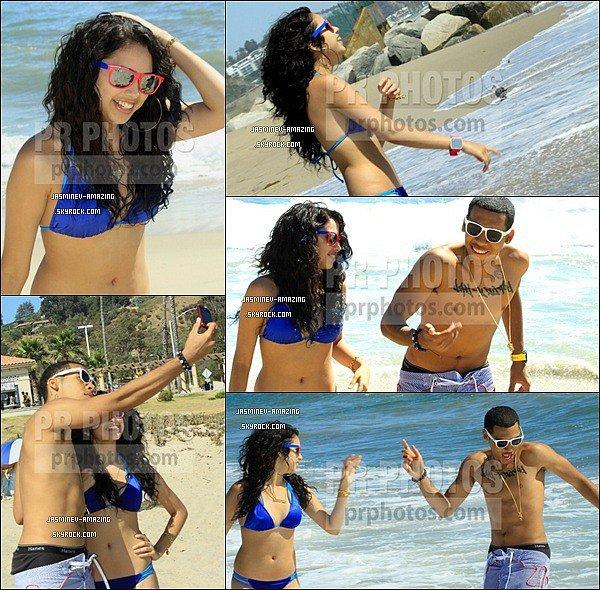 Jasmine et son petit ami Jinsu ont été aperçu sur les plages de Malibu le 4 Août.