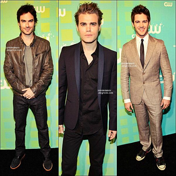 ________________________________________________________________________________  Le cast de TVD était présent à l'évènement de la CW Upfront.  __  Le cast était tout en beautée côtée fille la plus belle tenue était pour moi celle de Nina et côté garçons Paul Wesley et vous qui avez vous préférer?♥ ________________________________________________________________________________