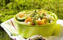 Salade de pâtes au fenouil et au saumon fumé