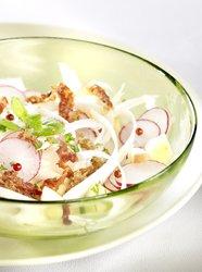 Salade d'asperges croquante et jambon