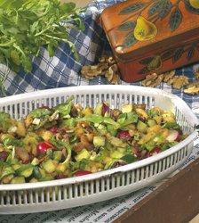 Frisée aux lardons caramélisés et aux pommes