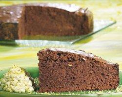 Gâteau chaud au chocolat, mascarpone à la pistache