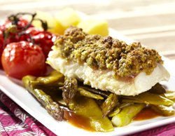 Cabillaud en croûte de pistaches aromatisée