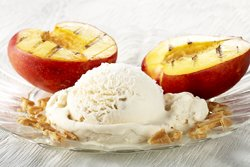 Nectarine grillée à la glace Galette au beurre
