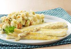 Filets de plie cynoglosse sauce moutarde et purée de légumes ( Colruyt )