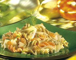 Pâtes, sauce à l'orange, aux chicons et au fenouil ( Colruyt )