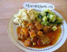 Curry d'agneau rapide ( Marmiton )