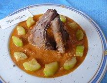Côtelettes d'agneau sauce espagnole  ( Marmiton )
