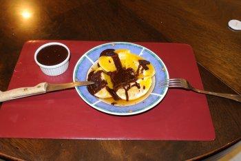 Oranges au sirop et sauce au chocolat ( Marmiton )