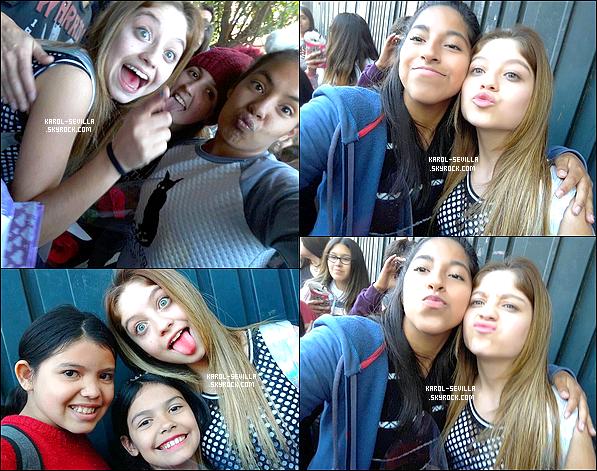 Ce samedi, Karol a été aperçue par des fans arrivant aux studios de Buenos Aires.