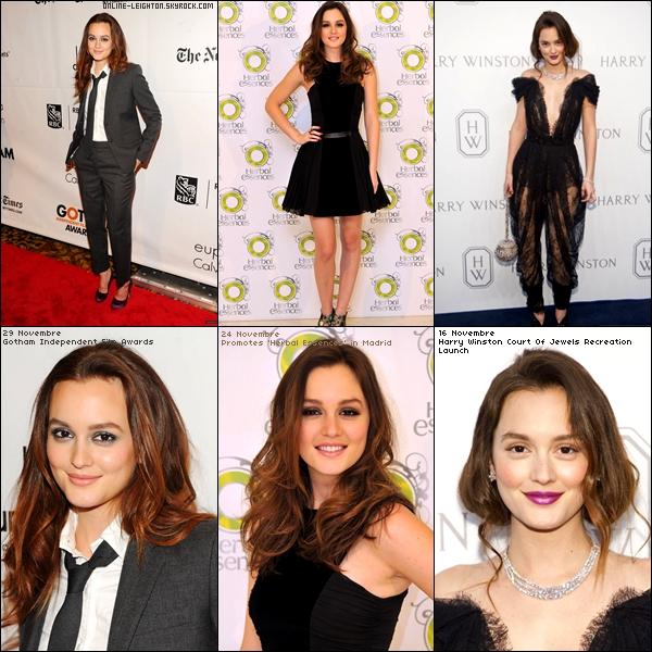 * Leighton est la 4eme femme plus belle, voici les 6 tenues de ce mois, a toi de les classées *