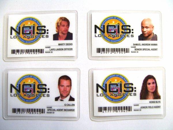 Les cartes identifications de nos agents