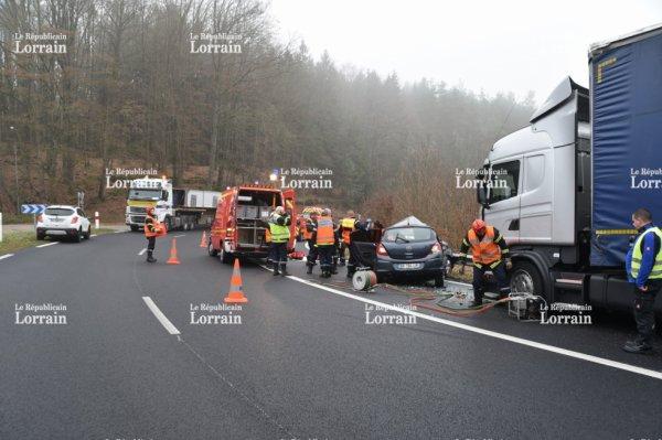 Bitche(57) : poids lourd contre voiture, une personne tuée dans un accident