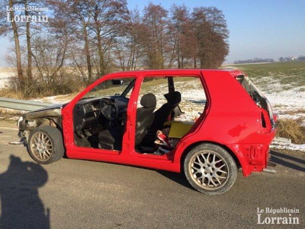 Moselle : il roulait avec sa voiture désossée car la peinture n'était pas sèche !