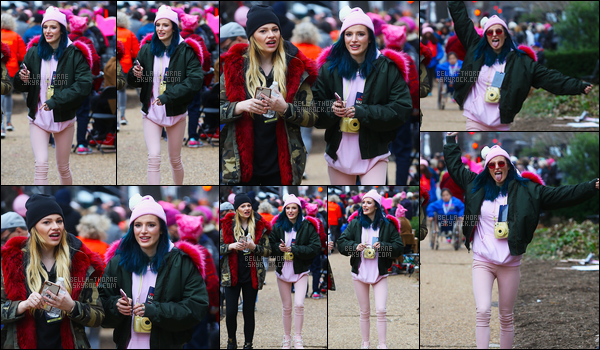- 21/01/17 : La féministe Bella Thorne a participé à la «Women's March» dans les rues de Washington DC.Ils étaient plus de 500.000 à manifester contre Donald Trump qui est depuis le 20/01 officiellement Président des États-Unis. • Top or Flop ? -