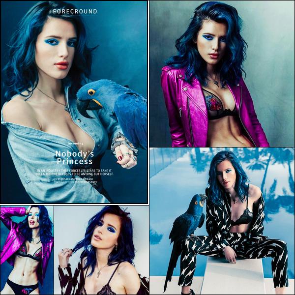 - Miss Bella Thorne fait la couverture du magazine «OUT» pour le mois d'Avril 2017.-