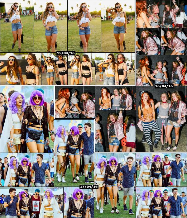 - -COACHELLA 2016---Découvrez les photos de notre jolie Bella.T s'amusant au fabuleux festival américain...En effet, notre rousse était en Californie dans la municipalité d'Indio lors du 15/04, 16/04 et 17/04 pour ce festival de musique ! • Top or Flop ? -