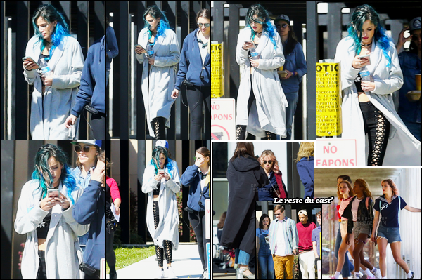 - 03/03/17 : Bella était sur le plateau de tournage du film «Assassination Nation» à La Nouvelle-Orleans !Nouveau projet pour notre miss Thorne qui jouera aux cotés de Suki Waterhouse et Cody Christian dans ce film tant attendu... • Top or Flop ? -