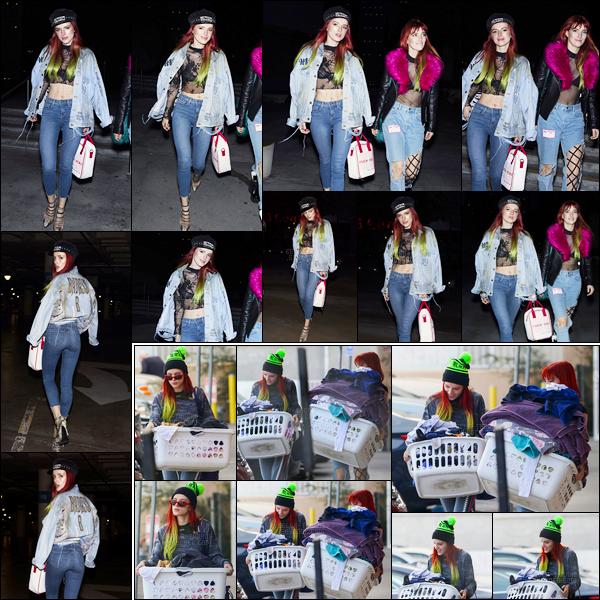 - 16/11/16 : Bella.T a posé pour les paparazzis devant le Staples Center qu'elle quittait avec sa soeur à LA !Plus tôt dans la journée, les deux soeurs avaient été aperçue à leur sortie d'une laverie automatique de Los Angeles, toujours. • Top or Flop ? -
