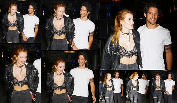 - 10/09/16 : Bella et Tyler ont été repérés ensemble quittant le restaurant «Katsuya» situé à Los Angeles.Je suis raide dingue de ce couple, vous ne pouvez pas savoir comment. Je les trouve beaux ensemble, tellement rock ! Bref je kiff. • Top or Flop ? -