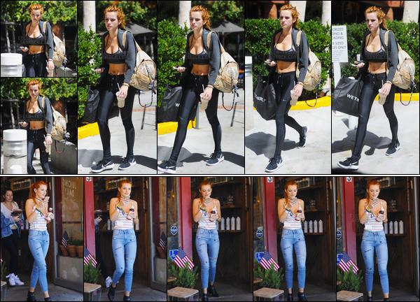 - 06/09/16 : Bella Thorne a été photographiée se rendant à son cours de pilates habituel de Beverly Hills !Par la suite, toujours à Beverly Hills, notre jolie rousse a été encore une fois photographiée, mais boisson à la main cette fois-ci ! • Top or Flop ? -